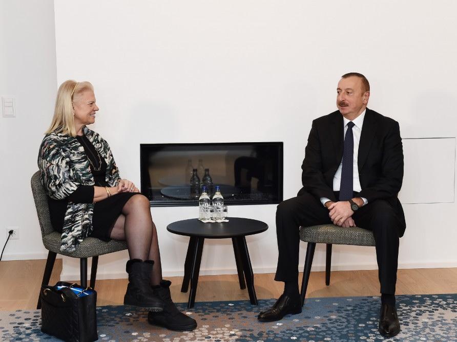 Ильхам Алиев встретился в Давосе с главным исполнительным директором компании IBM - ФОТО