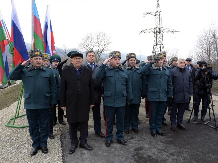 Состоялась торжественная церемония по случаю установления первого пограничного знака на азербайджано-российской государственной границе