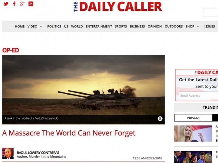 Американское издание The Daily Caller: «Резня, которую мир не сможет забыть»