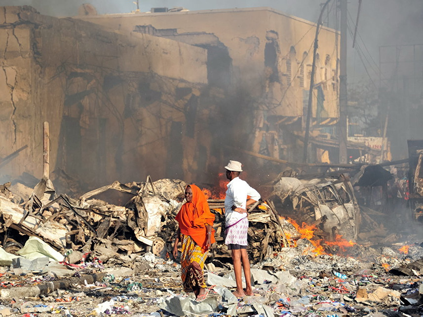 В столице Сомали прогремел взрыв, не менее 18 человек погибли