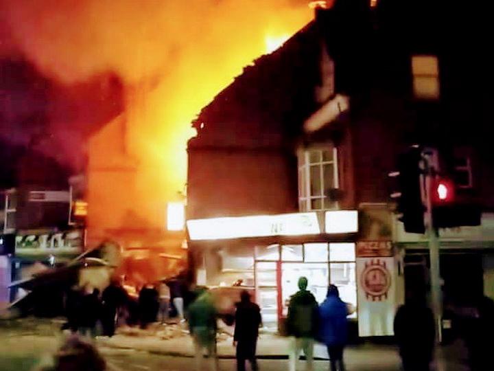 В британском городе Лестер прогремел мощный взрыв - ФОТО - ВИДЕО