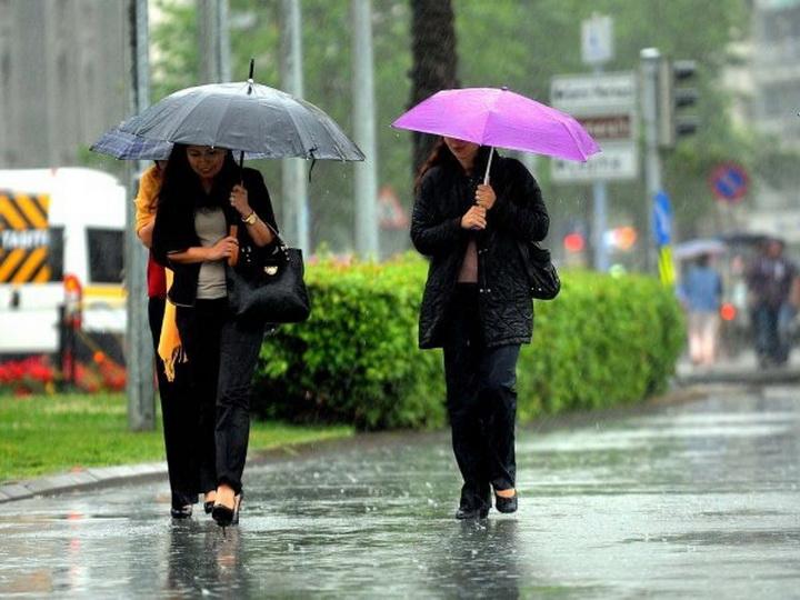 В воскресенье в Баку возможен дождь