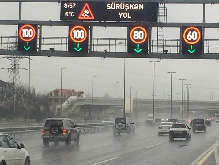 Изменен скоростной режим на некоторых дорогах Баку - ФОТО