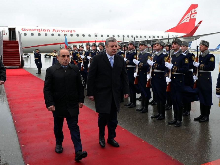 Премьер-министр Грузии прибыл в Азербайджан - ФОТО