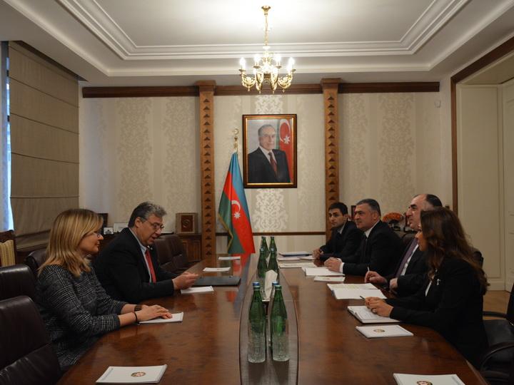 Эльмар Мамедъяров встретился с председателем комитета парламента Швейцарии по внешним связям