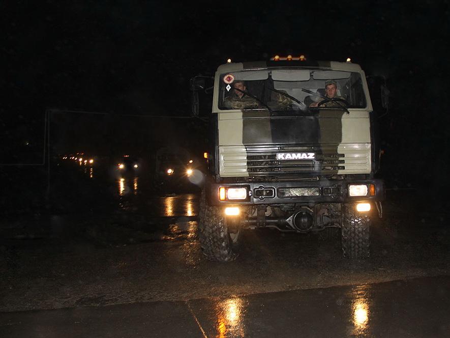 В ходе учений проведена передислокация войск в ночное время суток – ФОТО - ВИДЕО