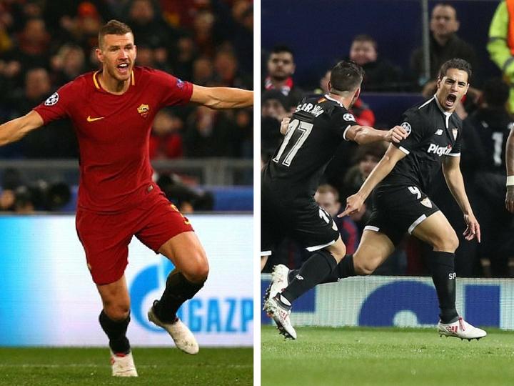 «Севилья» и «Рома» вышли в 1/4 финала Лиги чемпионов - ФОТО - ВИДЕО