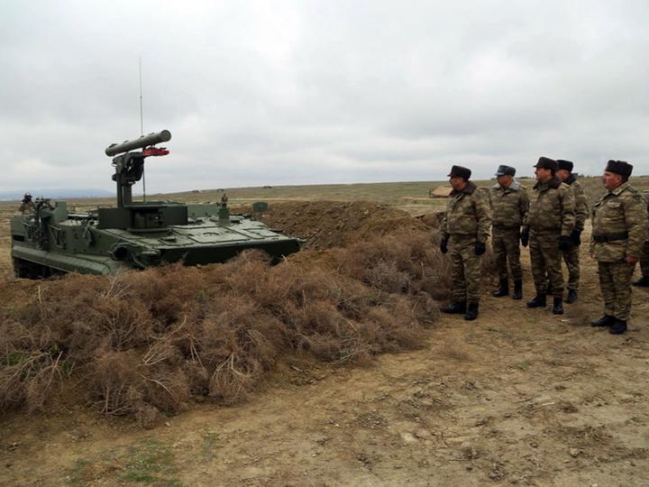 Проведен смотр задействованного в учениях вооружения азербайджанской армии – ФОТО – ВИДЕО