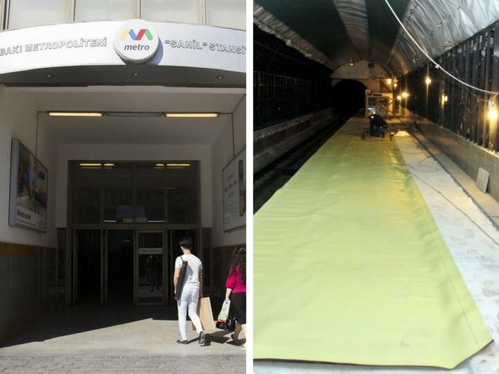 Полностью преображается станция метро «Сахил» - ФОТО