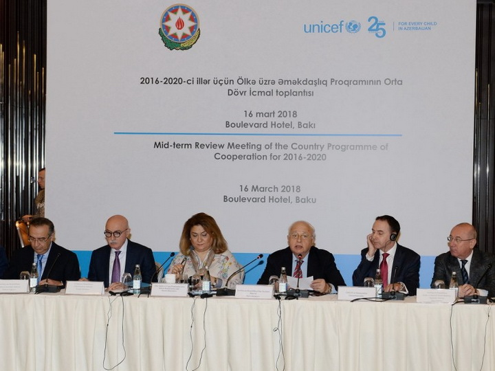 Азербайджан и ЮНИСЕФ обсуждили программу сотрудничества на 2016-2020 годы - ФОТО