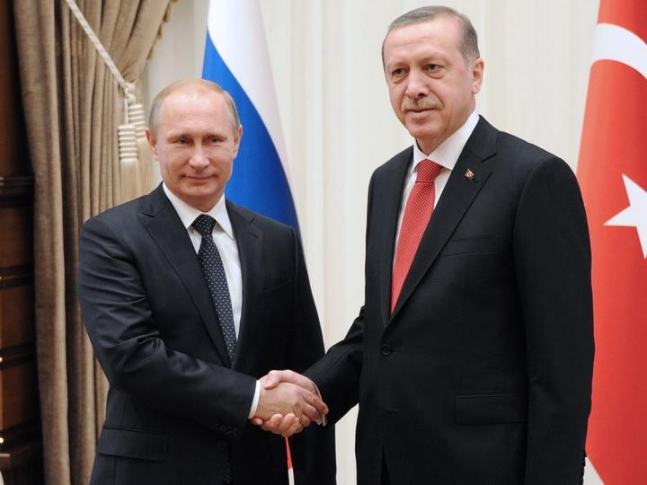 Эрдоган поздравил Путина с победой на президентских выборах