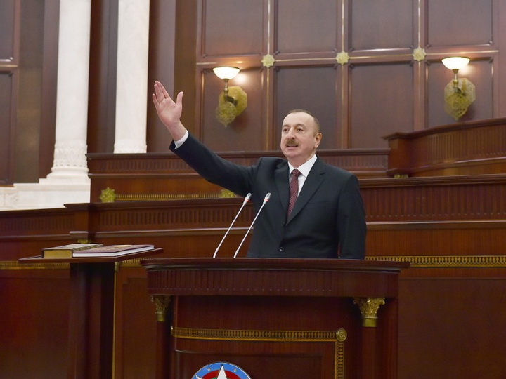 Президент Ильхам Алиев: Азербайджан никогда не позволит создать на нашей территории второе надуманное армянское государство - ФОТО