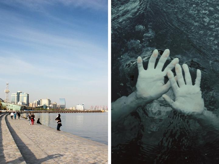 На бакинском бульваре спасли девушку, упавшую в море