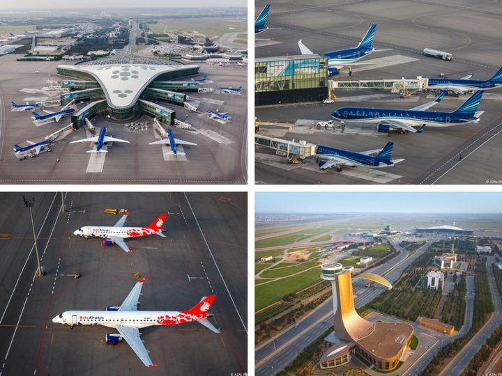 Как на ладони: Бакинский аэропорт с высоты птичьего полета - ФОТО