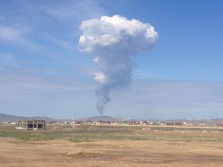 В Баку произошло извержение вулкана - ФОТО