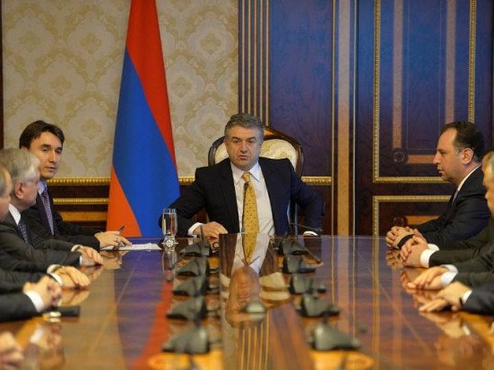 Первый вице-премьер Карен Карапетян приступил к исполнению обязанностей главы правительства Армении