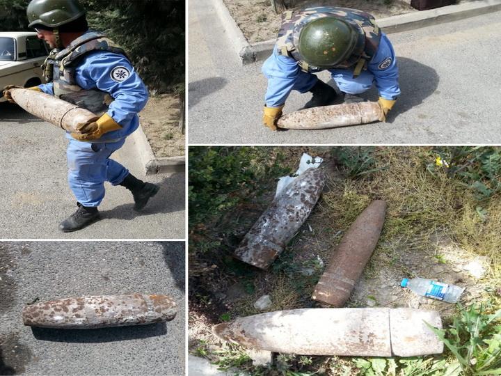 В Баку в отделении полиции нашли крупнокалиберные снаряды – ФОТО