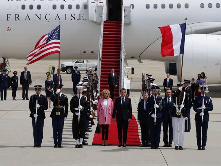 Макрон прибыл с государственным визитом в США