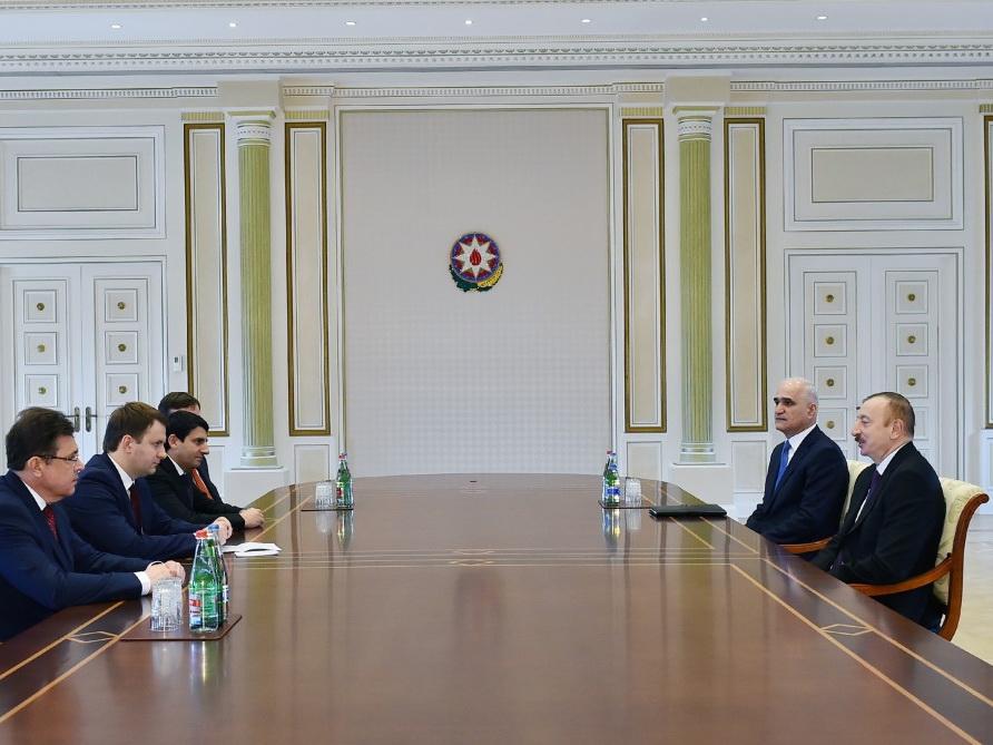 Президент Ильхам Алиевпринял министра экономического развития России