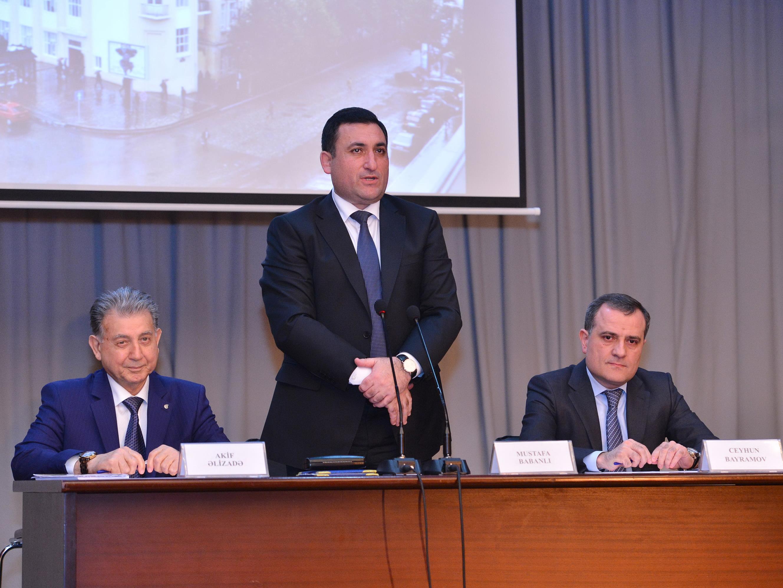 Президенту НАНА вручен диплом почетного профессора Азербайджанского государственного университета нефти и промышленности - ФОТО