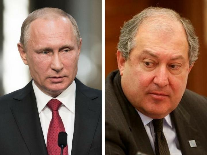 Владимир Путин обсудил с президентом Армении ситуацию в стране