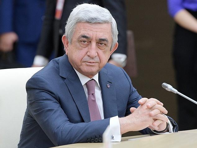 Саргсян уходит с поста главы правящей партии в Армении