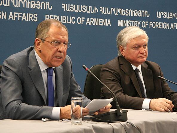 Сергей Лавров и Эдвард Налбандян обсудили в Москве ситуацию вокруг Нагорного Карабаха