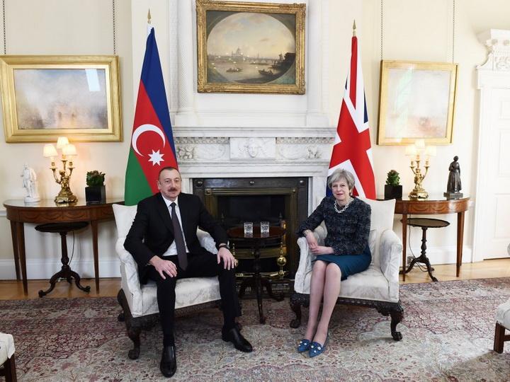 Президент Азербайджана встретился с премьер-министром Великобритании – ФОТО