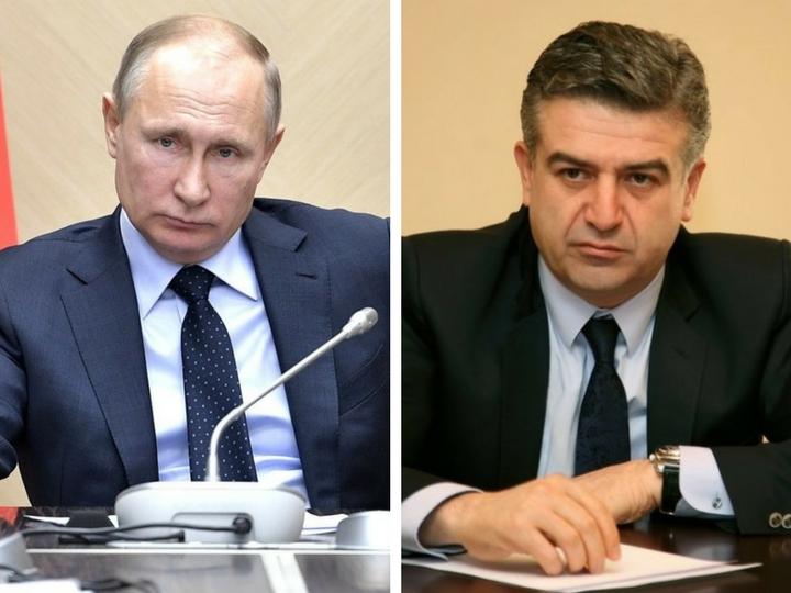 Путин обсудил с Карапетяном урегулирование кризиса в Армении