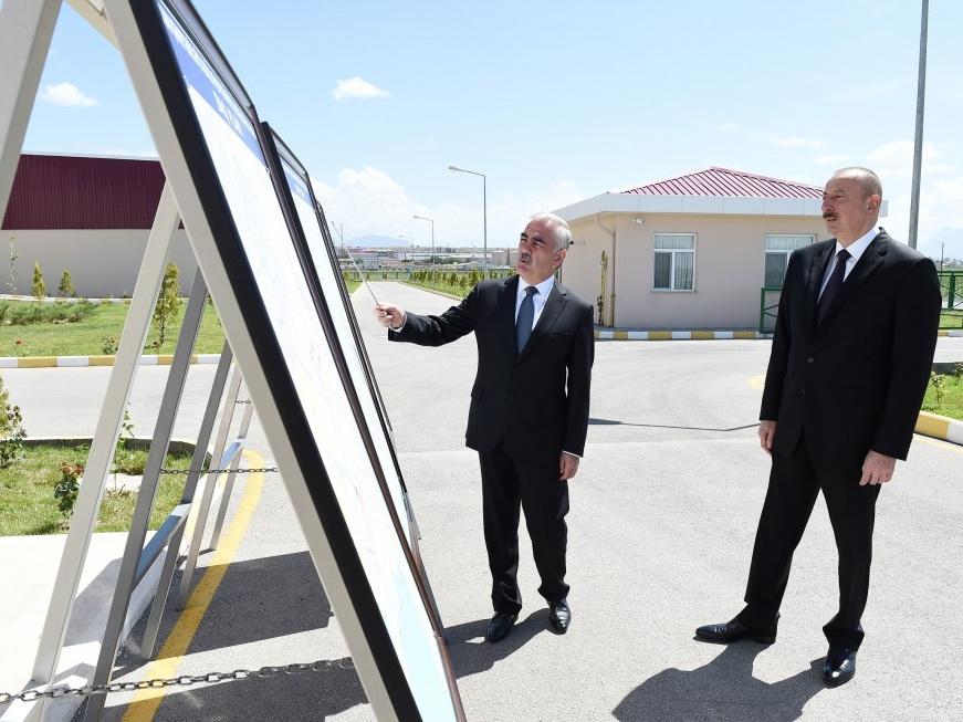 Ильхам Алиев принял участие в открытии Комплекса очистных сооружений города Нахчыван - ФОТО