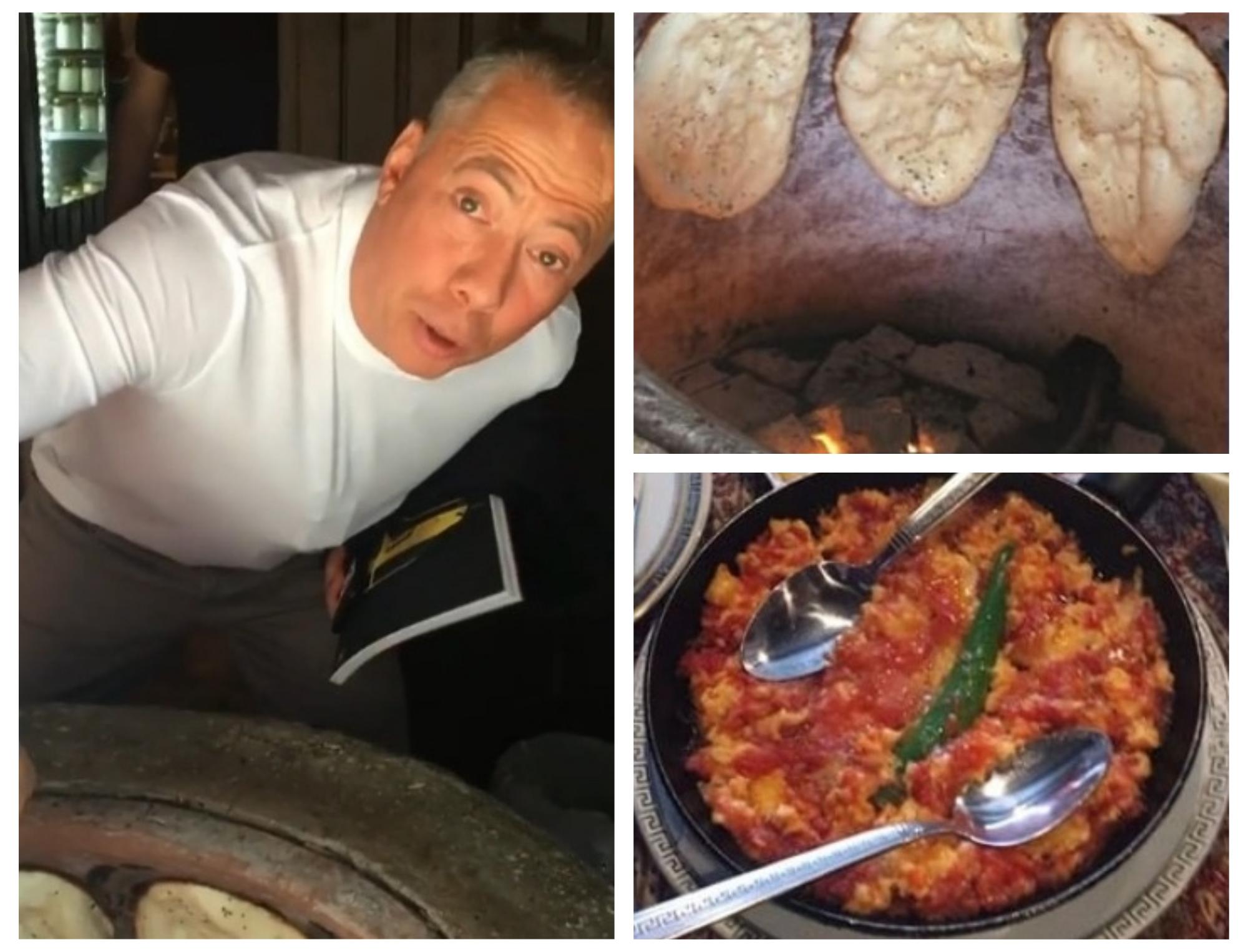 Аркадий Новиков показал в Instagram приготовление тендира и традиционный азербайджанский завтрак – ВИДЕО