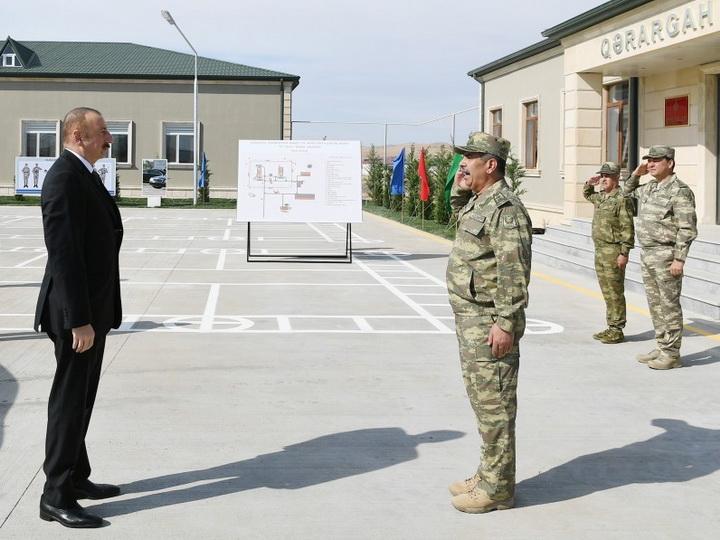 Ильхам Алиев принял участие в открытии N-ской воинской части Минобороны - ФОТО