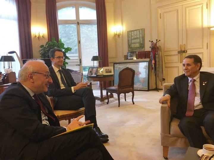 Novruz Məmmədov Parisdə Fransa Prezidentinin diplomatik müşaviri ilə görüşüb