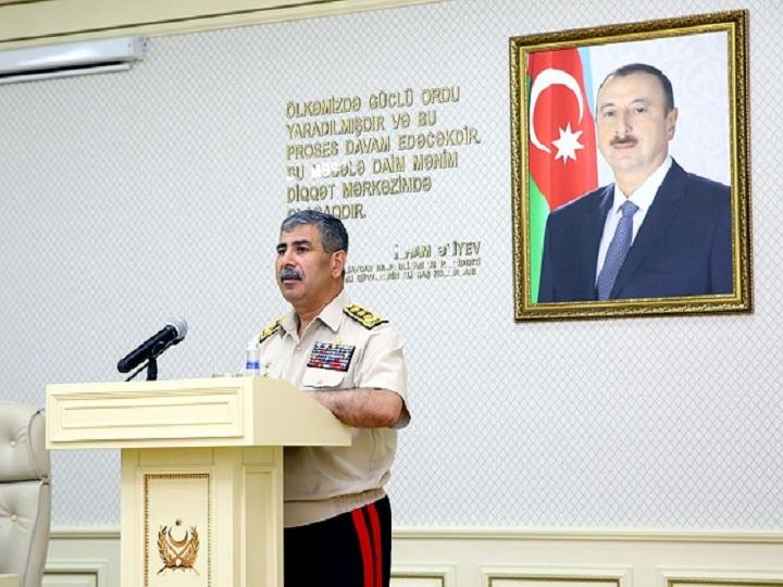 Müdafiə naziri: Ordumuz düşmən istənilən təxribatının qarşısını almağa hazır olmalıdır - FOTO