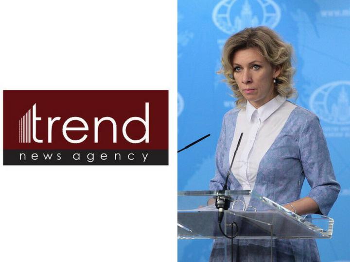 Информагентство Trend обвинило Марию Захарову в подтасовке и предвзятости