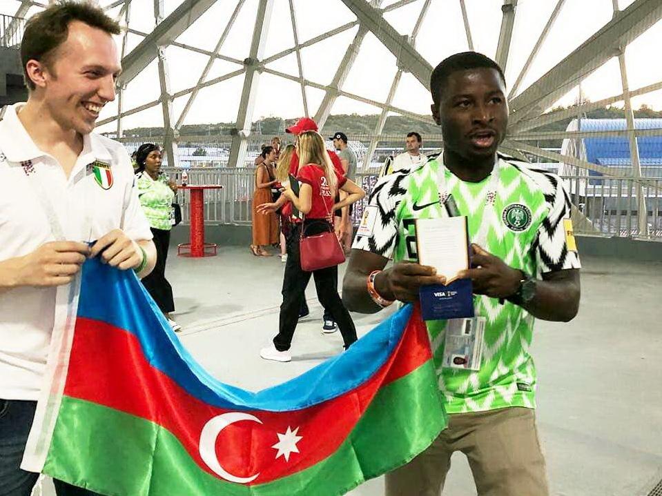 «Я из Нахчывана!»: Болельщик из Нигерии гордится тем, что он азербайджанец - ВИДЕО