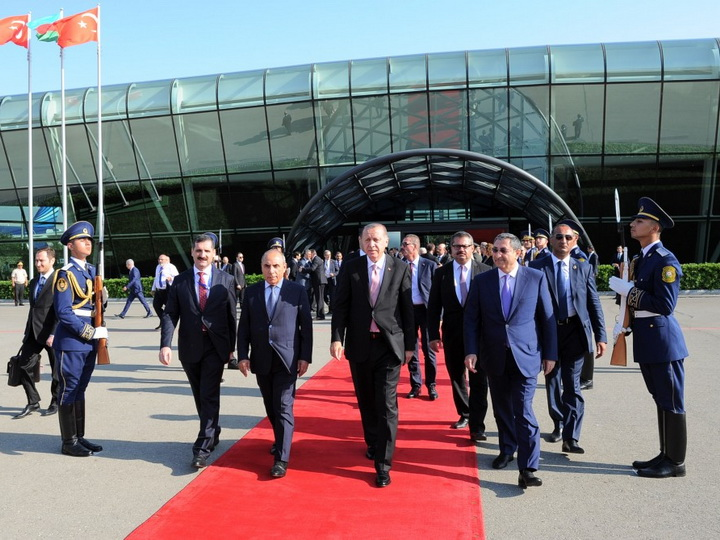 Завершился официальный визит Президента Турции в Азербайджан - ФОТО