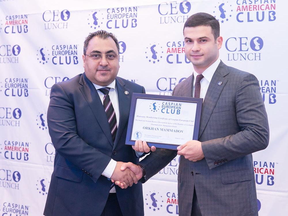 Орхан Мамедов стал почетным гостем CEO Lunch Baku