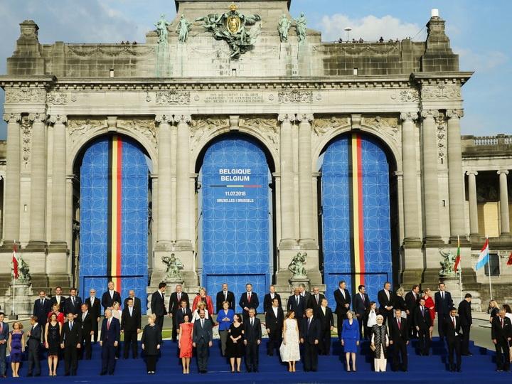 Prezident İlham Əliyev NATO ölkələri başçıları üçün təşkil olunan qəbulda iştirak edib