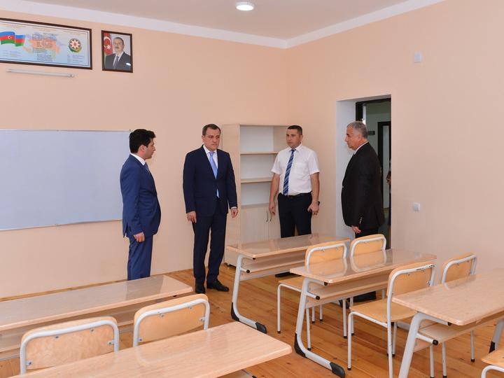 Министр образования побывал в школе, построенной в селе Шариф Балакенского района - ФОТО