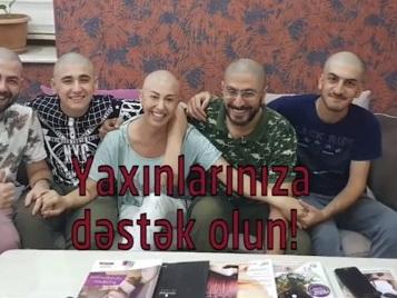 Семья ведущего Ильгара Микаилоглу побрилась налысо в поддержку его супруги, болеющей раком – ВИДЕО