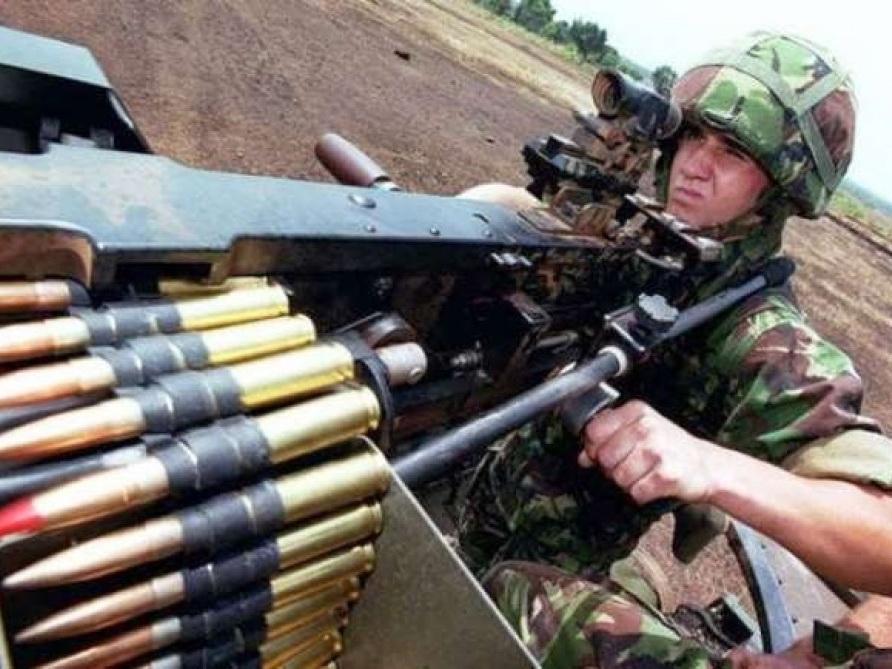 Подразделения вооруженных сил Армении, используя крупнокалиберные пулеметы, нарушили режим прекращения огня 92 раза