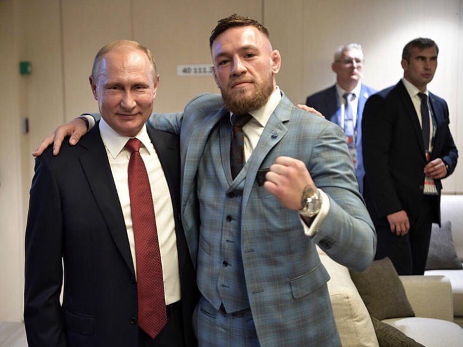 Конор Макгрегор встретился с Владимиром Путиным: «Он - один из величайших лидеров нашего времени» - ФОТО