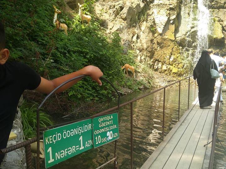 В Азербайджане осмотр водопада сделали платным – ФОТОФАКТ