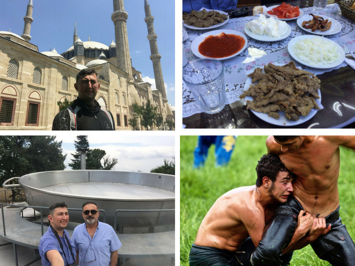 Мотопробег Прага-Баку: сковорода на 600 кг мяса и масляные бои без правил в Эдирне – ФОТО