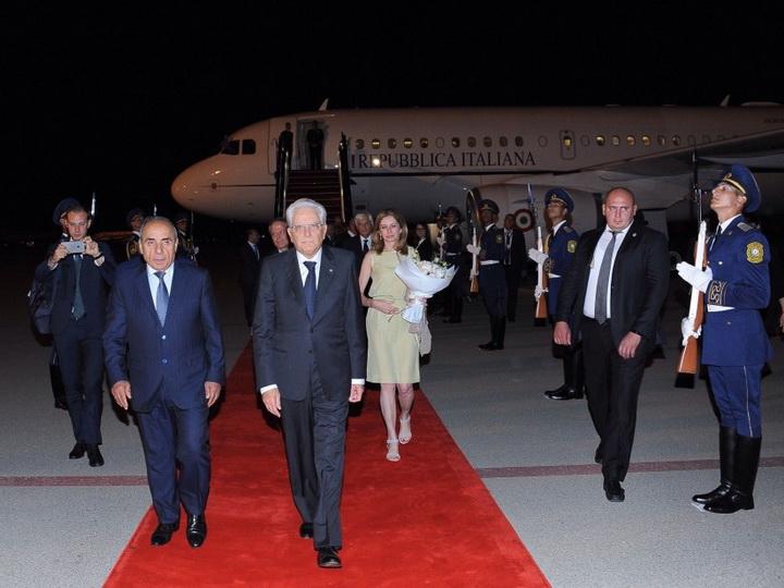 Президент Италии прибыл с официальным визитом в Азербайджан - ФОТО