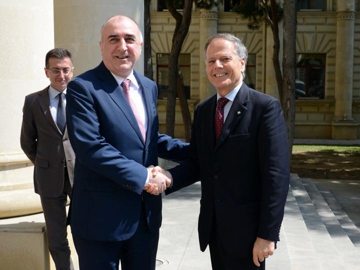 Главы МИД Азербайджана и Италии обсуждают возможности активного сотрудничества - ФОТО