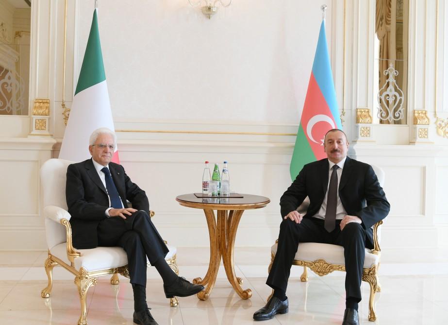 Состоялась встреча президентов Азербайджана и Италии один на один - ФОТО