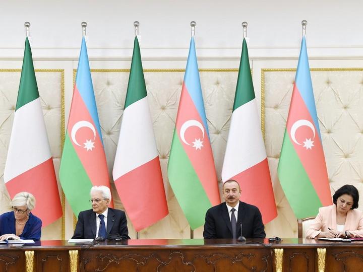Подписаны азербайджано-итальянские документы - ФОТО