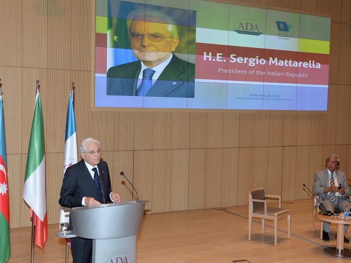 Президент Серджо Маттарелла: Италия выступает за мирное урегулирование нагорно-карабахского конфликта - ФОТО